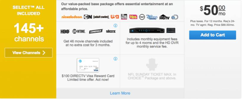 Directv select package
