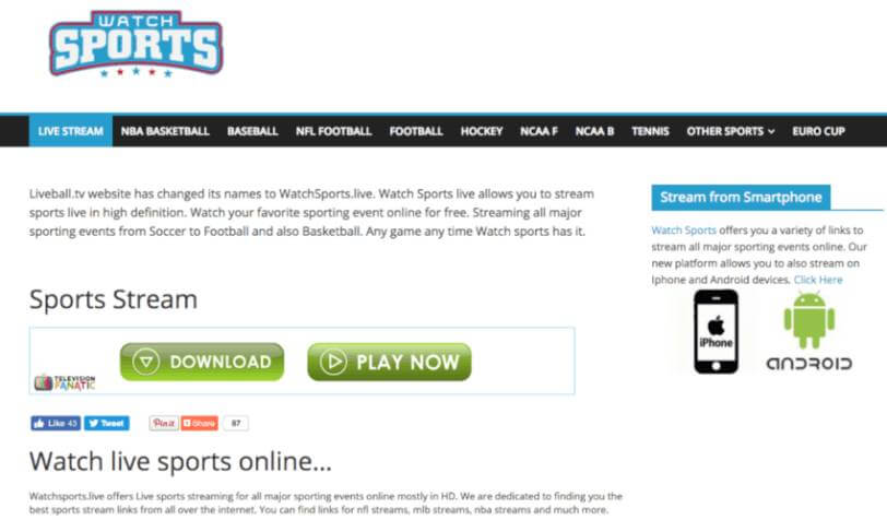 sport streaming sites