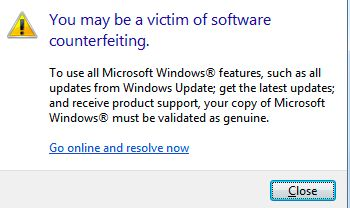 victim of software counterfeiting