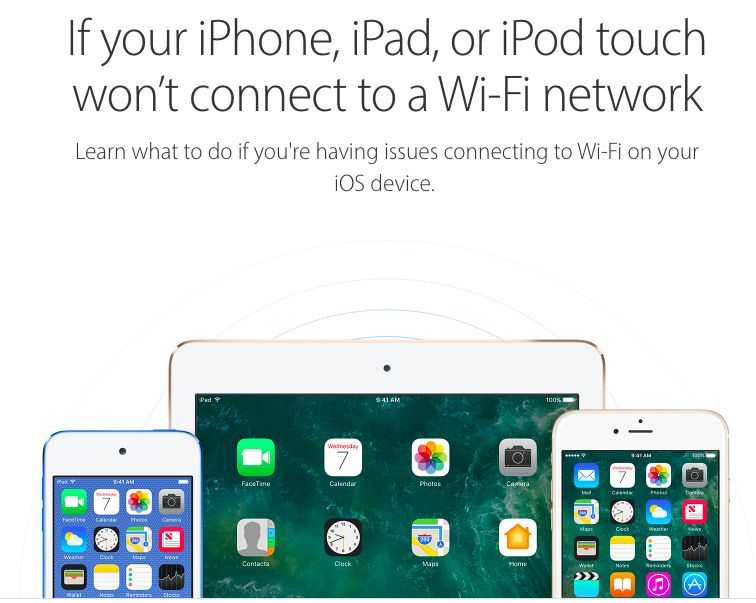 ipad wont connects to wi-fi