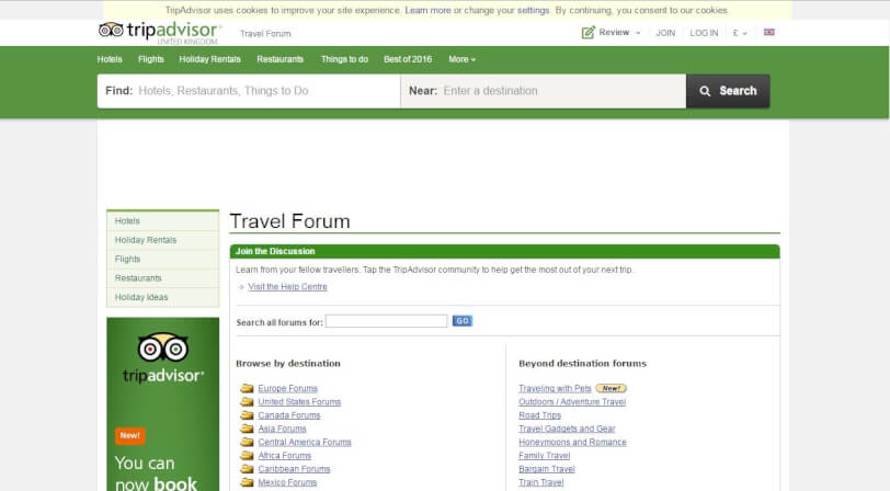travel forums